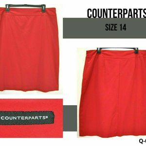 Counterparts Womens 14 Red Pencil Skirt